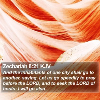 Zechariah 8:21 KJV Bible Verse Image