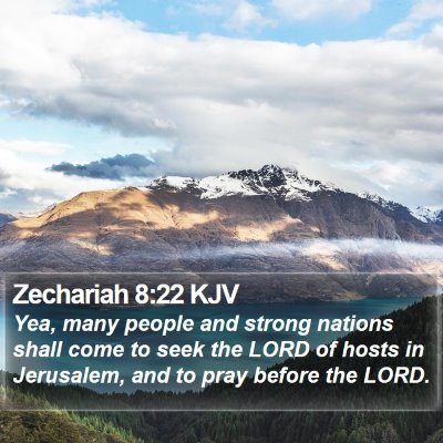 Zechariah 8:22 KJV Bible Verse Image
