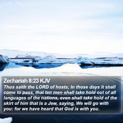 Zechariah 8:23 KJV Bible Verse Image
