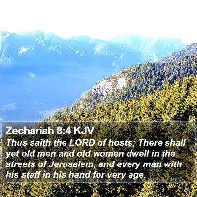 Zechariah 8:4 KJV Bible Verse Image