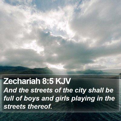 Zechariah 8:5 KJV Bible Verse Image