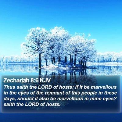 Zechariah 8:6 KJV Bible Verse Image