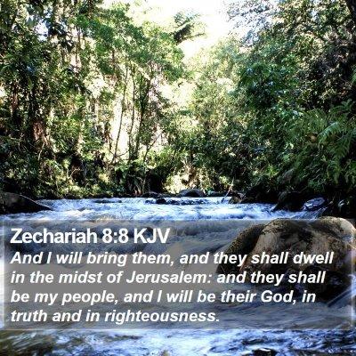 Zechariah 8:8 KJV Bible Verse Image