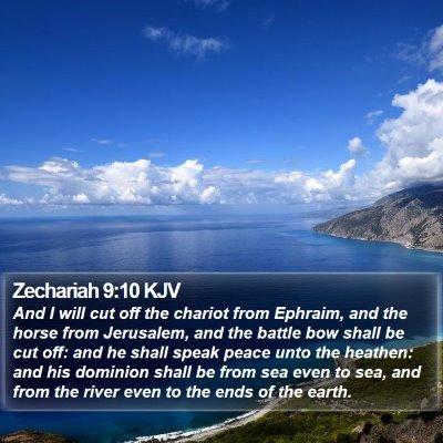 Zechariah 9:10 KJV Bible Verse Image