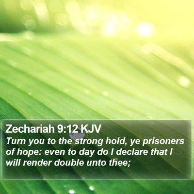 Zechariah 9:12 KJV Bible Verse Image