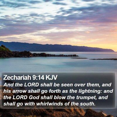 Zechariah 9:14 KJV Bible Verse Image