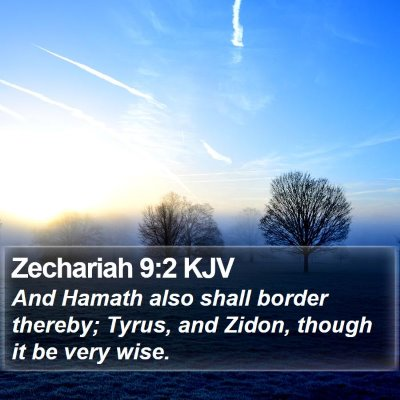 Zechariah 9:2 KJV Bible Verse Image