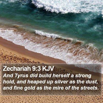 Zechariah 9:3 KJV Bible Verse Image