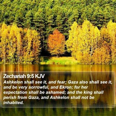 Zechariah 9:5 KJV Bible Verse Image