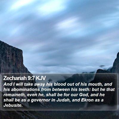 Zechariah 9:7 KJV Bible Verse Image
