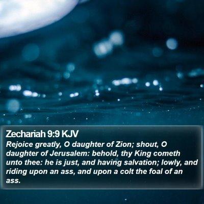 Zechariah 9:9 KJV Bible Verse Image