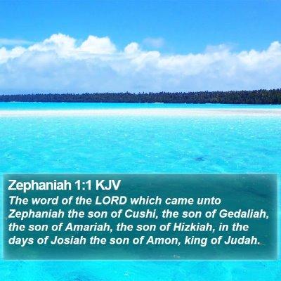 Zephaniah 1:1 KJV Bible Verse Image