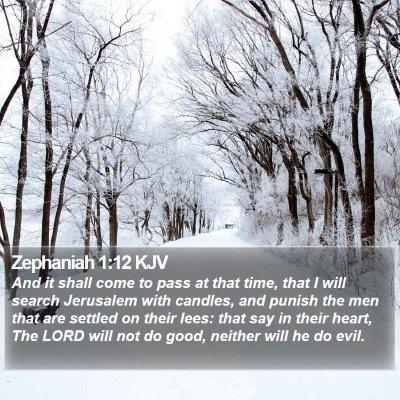 Zephaniah 1:12 KJV Bible Verse Image