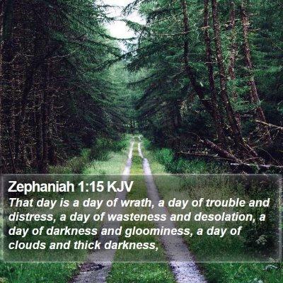 Zephaniah 1:15 KJV Bible Verse Image
