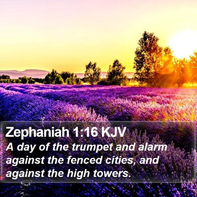Zephaniah 1:16 KJV Bible Verse Image