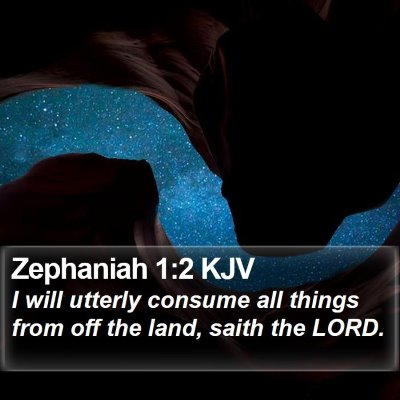 Zephaniah 1:2 KJV Bible Verse Image