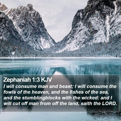 Zephaniah 1:3 KJV Bible Verse Image