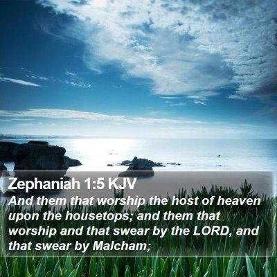 Zephaniah 1:5 KJV Bible Verse Image