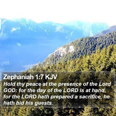 Zephaniah 1:7 KJV Bible Verse Image