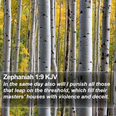 Zephaniah 1:9 KJV Bible Verse Image