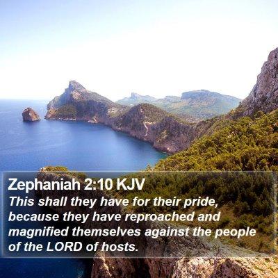 Zephaniah 2:10 KJV Bible Verse Image