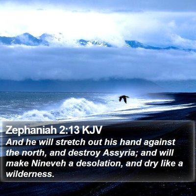 Zephaniah 2:13 KJV Bible Verse Image