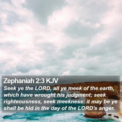 Zephaniah 2:3 KJV Bible Verse Image