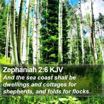 Zephaniah 2:6 KJV Bible Verse Image