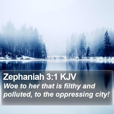 Zephaniah 3:1 KJV Bible Verse Image
