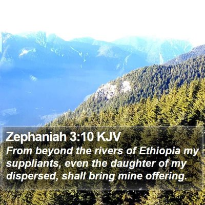 Zephaniah 3:10 KJV Bible Verse Image