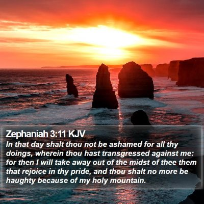 Zephaniah 3:11 KJV Bible Verse Image