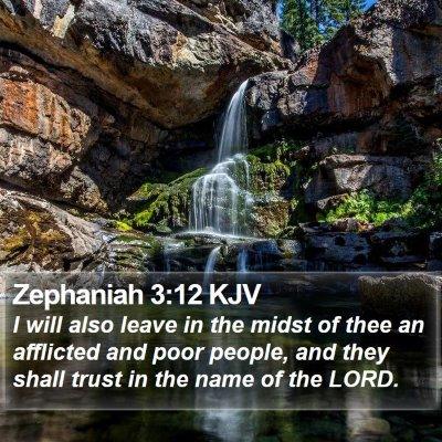 Zephaniah 3:12 KJV Bible Verse Image