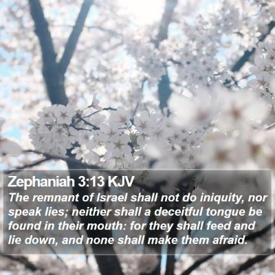 Zephaniah 3:13 KJV Bible Verse Image