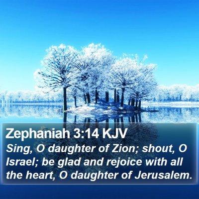 Zephaniah 3:14 KJV Bible Verse Image