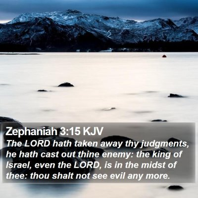 Zephaniah 3:15 KJV Bible Verse Image