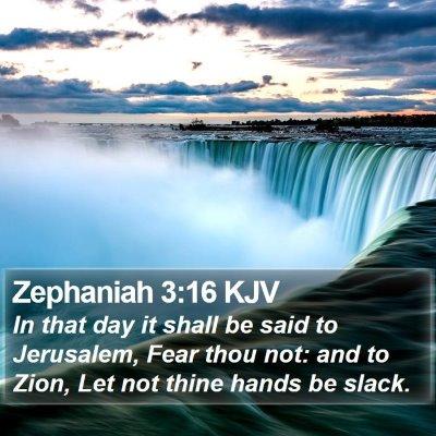 Zephaniah 3:16 KJV Bible Verse Image