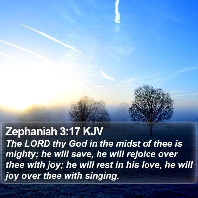 Zephaniah 3:17 KJV Bible Verse Image