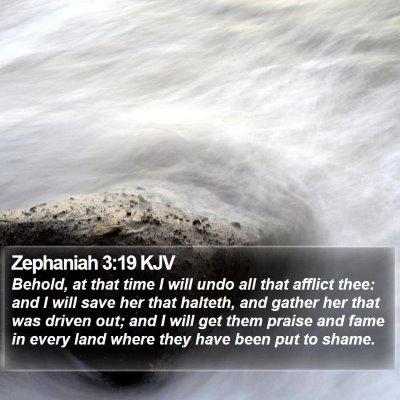 Zephaniah 3:19 KJV Bible Verse Image