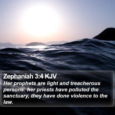 Zephaniah 3:4 KJV Bible Verse Image