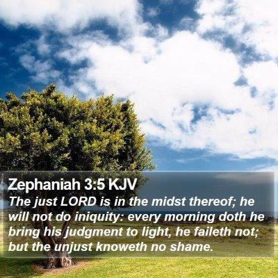 Zephaniah 3:5 KJV Bible Verse Image