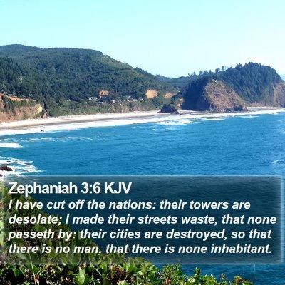 Zephaniah 3:6 KJV Bible Verse Image