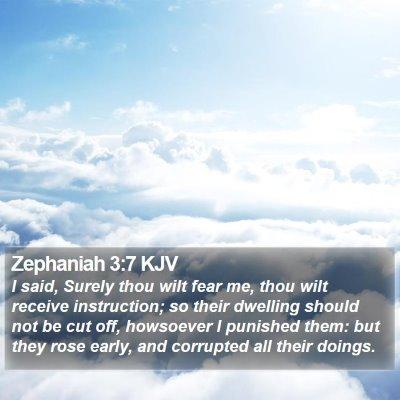 Zephaniah 3:7 KJV Bible Verse Image