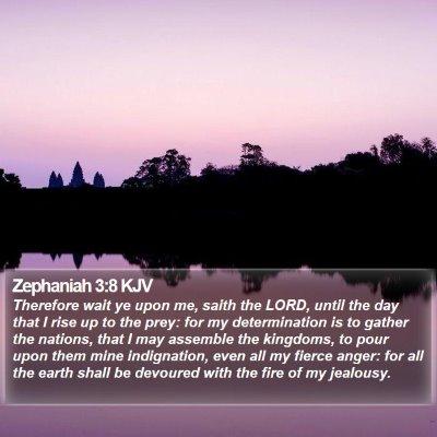 Zephaniah 3:8 KJV Bible Verse Image
