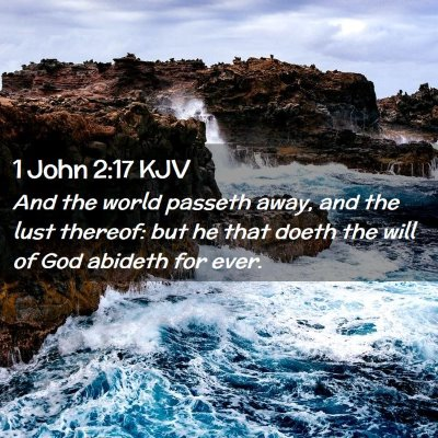 Picture 02 - 1 John 2:17 KJV - And the world passeth away, and the lust thereof: - Bible Verse Picture