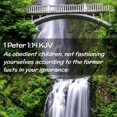 Picture 02 - 1 Peter 1:14 KJV - As obedient children, not fashioning yourselves - Bible Verse Picture