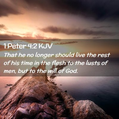Picture 02 - 1 Peter 4:2 KJV - That he no longer should live the rest of his - Bible Verse Picture