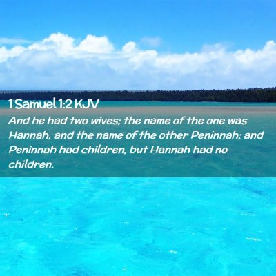 Picture 02 - 1 Samuel 1:2 KJV - And he had two wives; the name of the one was - Bible Verse Picture