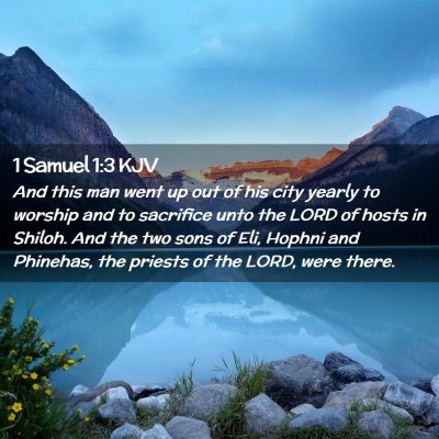 Picture 02 - 1 Samuel 1:3 KJV - And this man went up out of his city yearly to - Bible Verse Picture