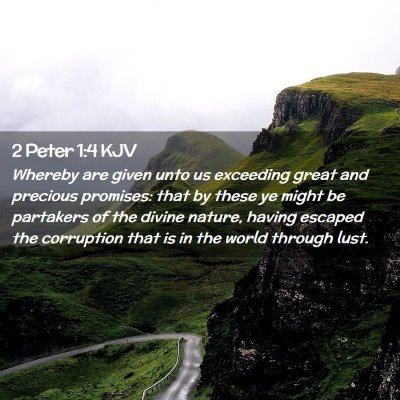 Picture 02 - 2 Peter 1:4 KJV - Whereby are given unto us exceeding great and - Bible Verse Picture