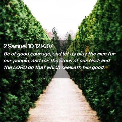 Picture 02 - 2 Samuel 10:12 KJV - Be of good courage, and let us play the men for - Bible Verse Picture